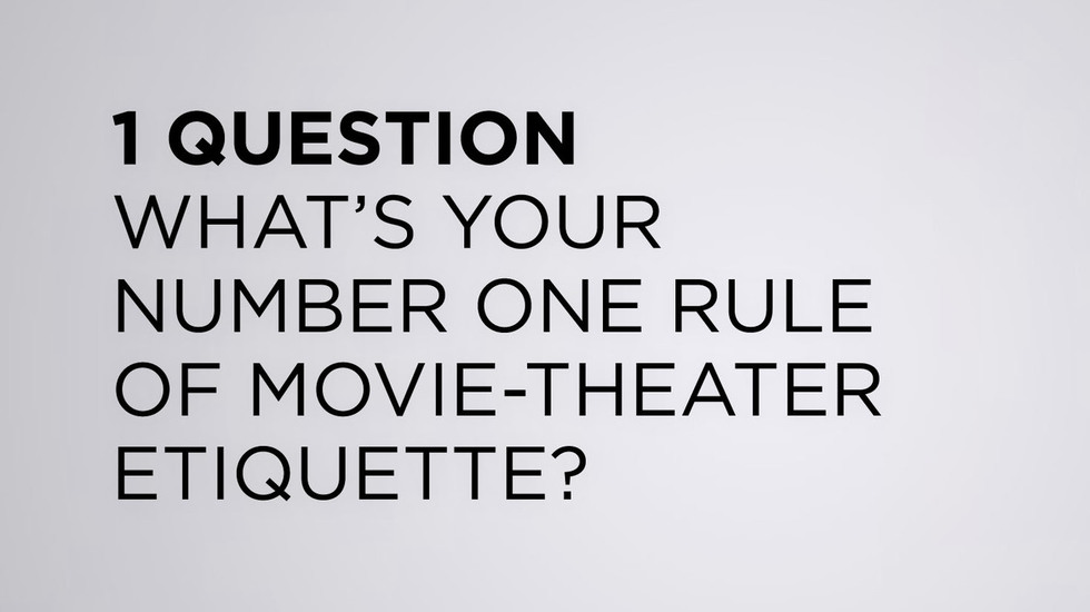 """We Asked the TFF 2013 Filmmakers: """"What's Your Number One Rule of Movie-Theater Etiquette?"""""""
