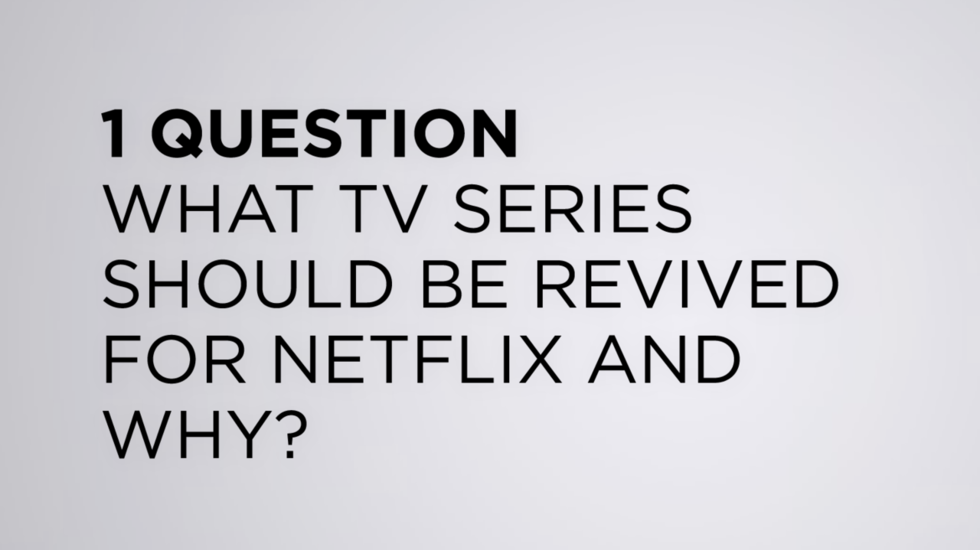 """We Asked the TFF Filmmakers: """"What TV series should be revived for Netflix and Why?"""""""