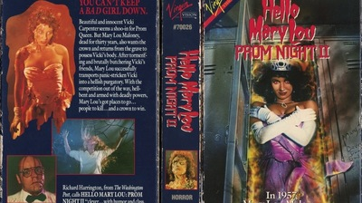 31 Days of Horror: The VHS Cover for 'Prom Night II'