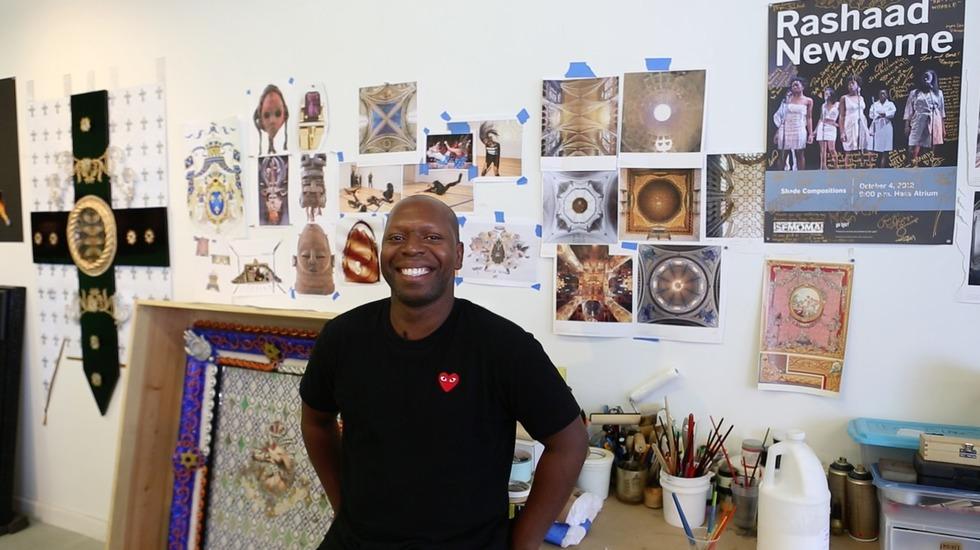 WATCH: Step Inside Multimedia Artist Rashaad Newsome's Queens Studio