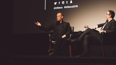 "Tom Hanks Lived Up to His ""Storyteller"" Status, With John Oliver's Help, at Tribeca 2016"