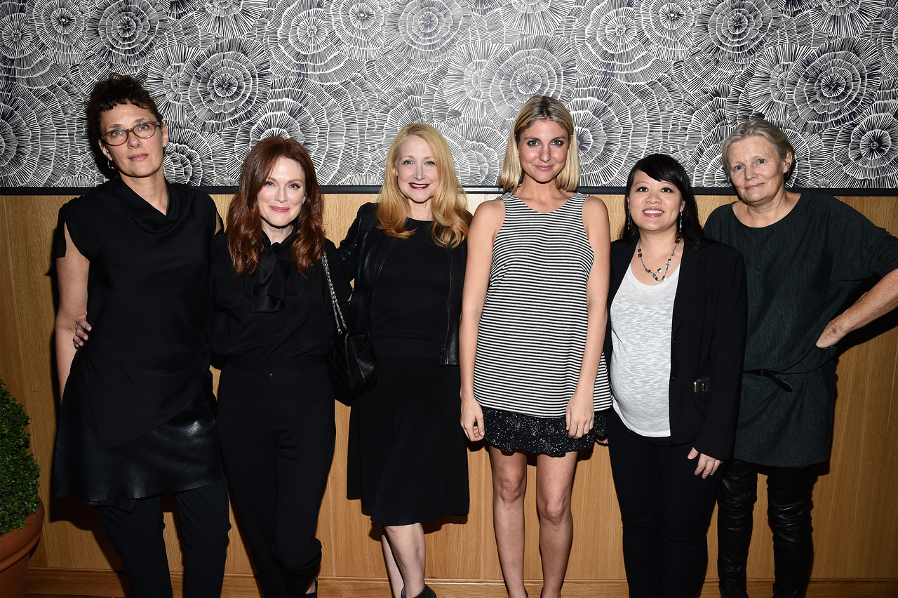 Rebecca Miller, Julianne Moore, Patricia Clarkson, Anna Martemucci, Mynette Louie, and Mary Harron