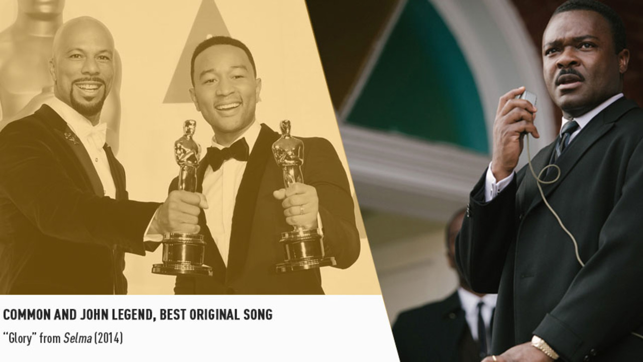 "Common and John Legend collected Oscars for their triumphant ""Glory"" from Ava DuVernay's SELMA."