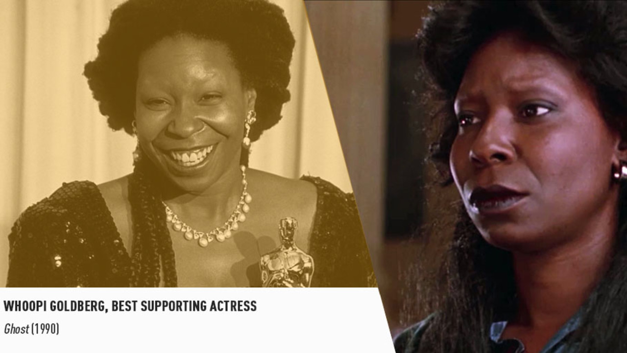 Queen Whoopi Goldberg won a Supporting Actress Oscar in 1991 for her iconic performance in GHOST.