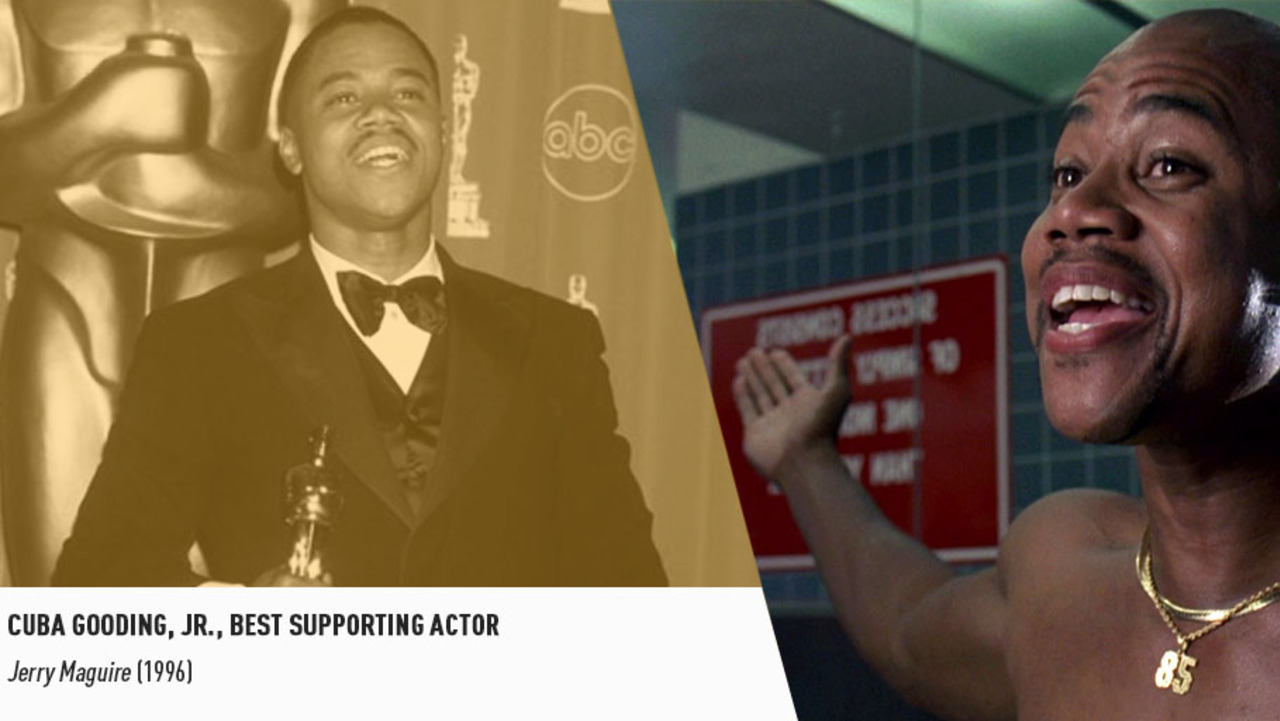 Cuba Gooding, Jr. earned his Supporting Oscar for an instantly-iconic performance in JERRY MAGUIRE.