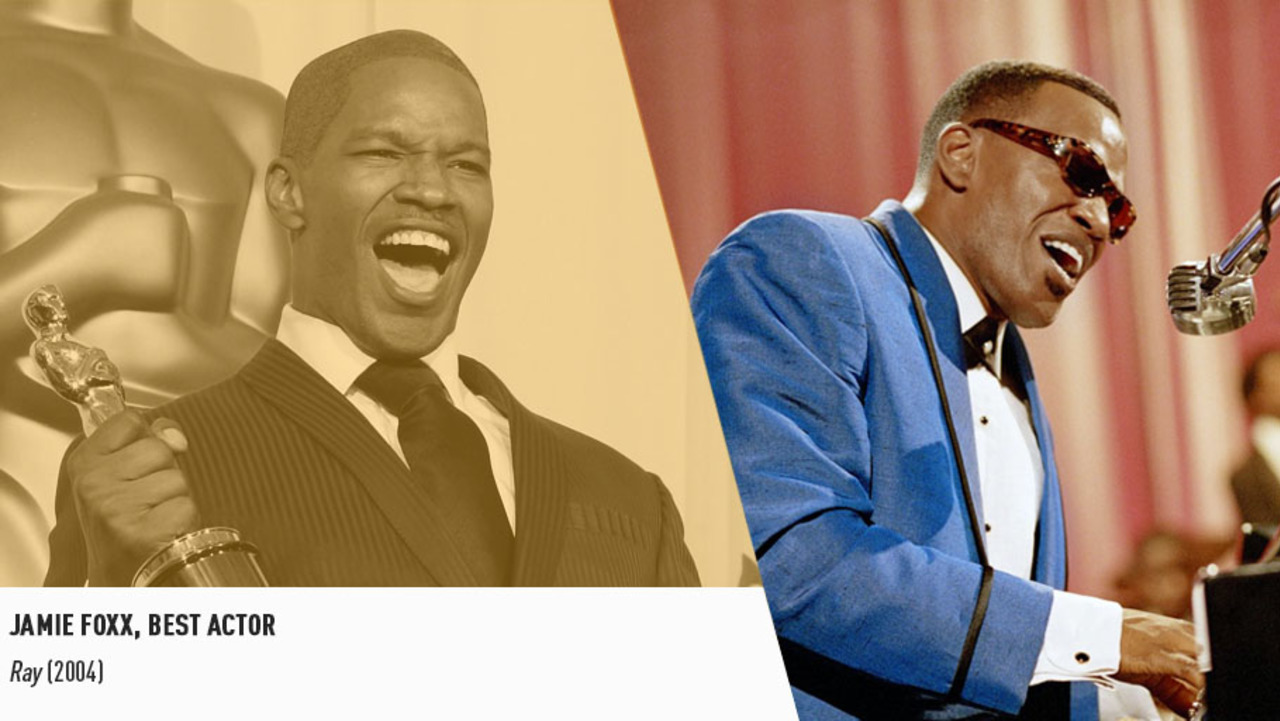 Jamie Foxx earned an Oscar for bringing the great Ray Charles back to life on the big screen
