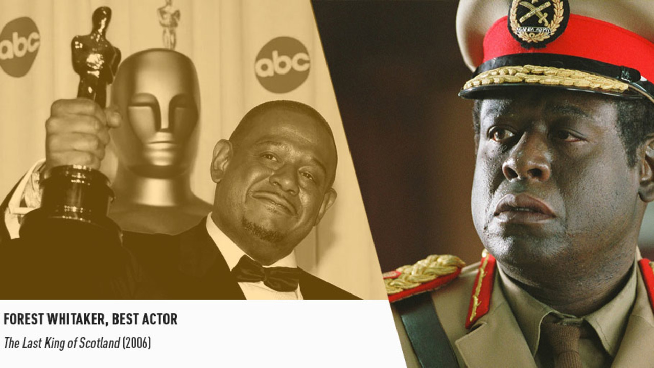 The superb Forest Whitaker collected an Oscar in 2007 for his ferociously unforgettable Idi Amin.