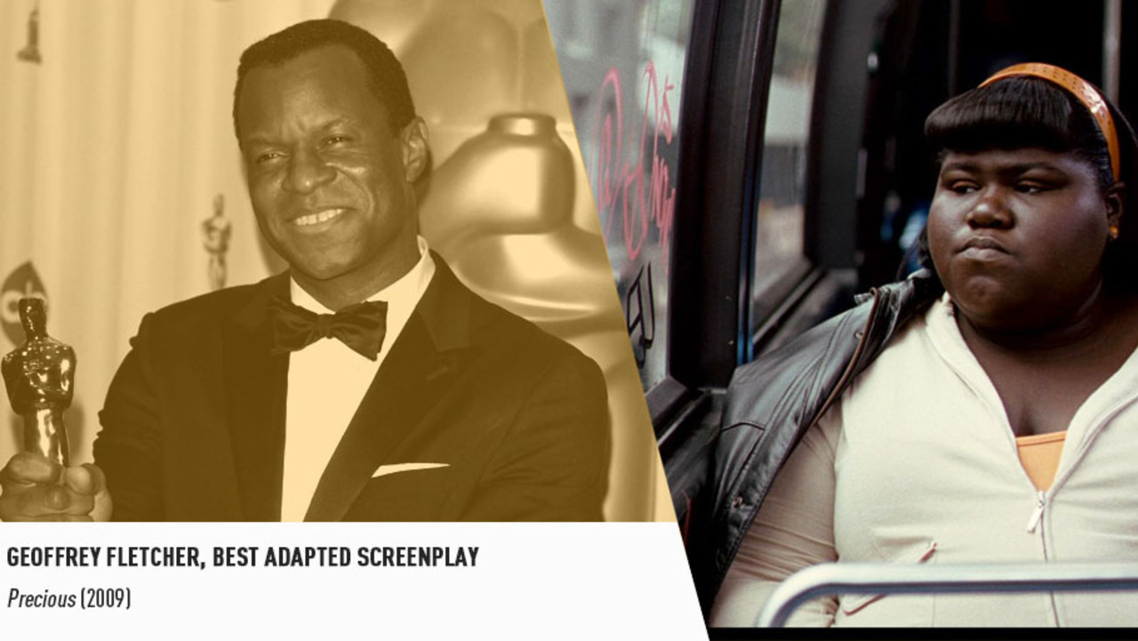 In 2010, PRECIOUS' Geoffrey Fletcher became the first black artist to earn a screenwriting Oscar.