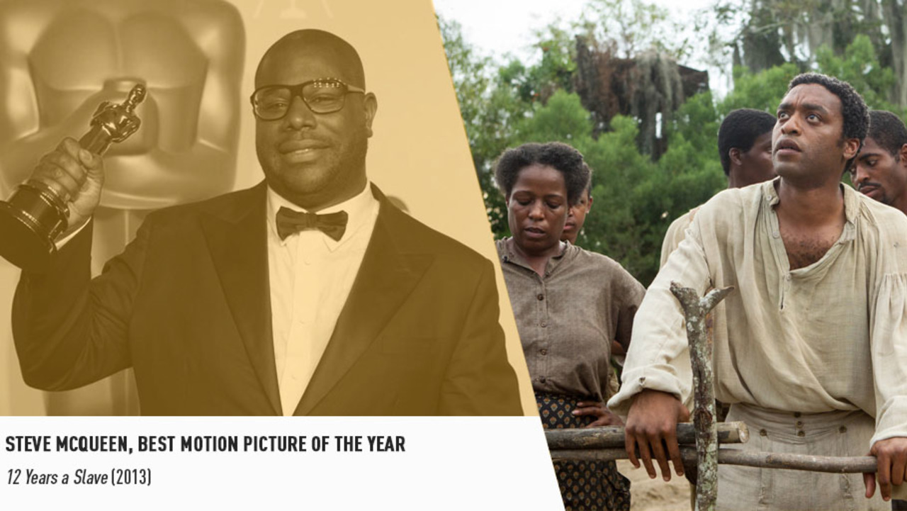The bold and brilliant Steve McQueen is the first black filmmaker to win a Best Picture Oscar.