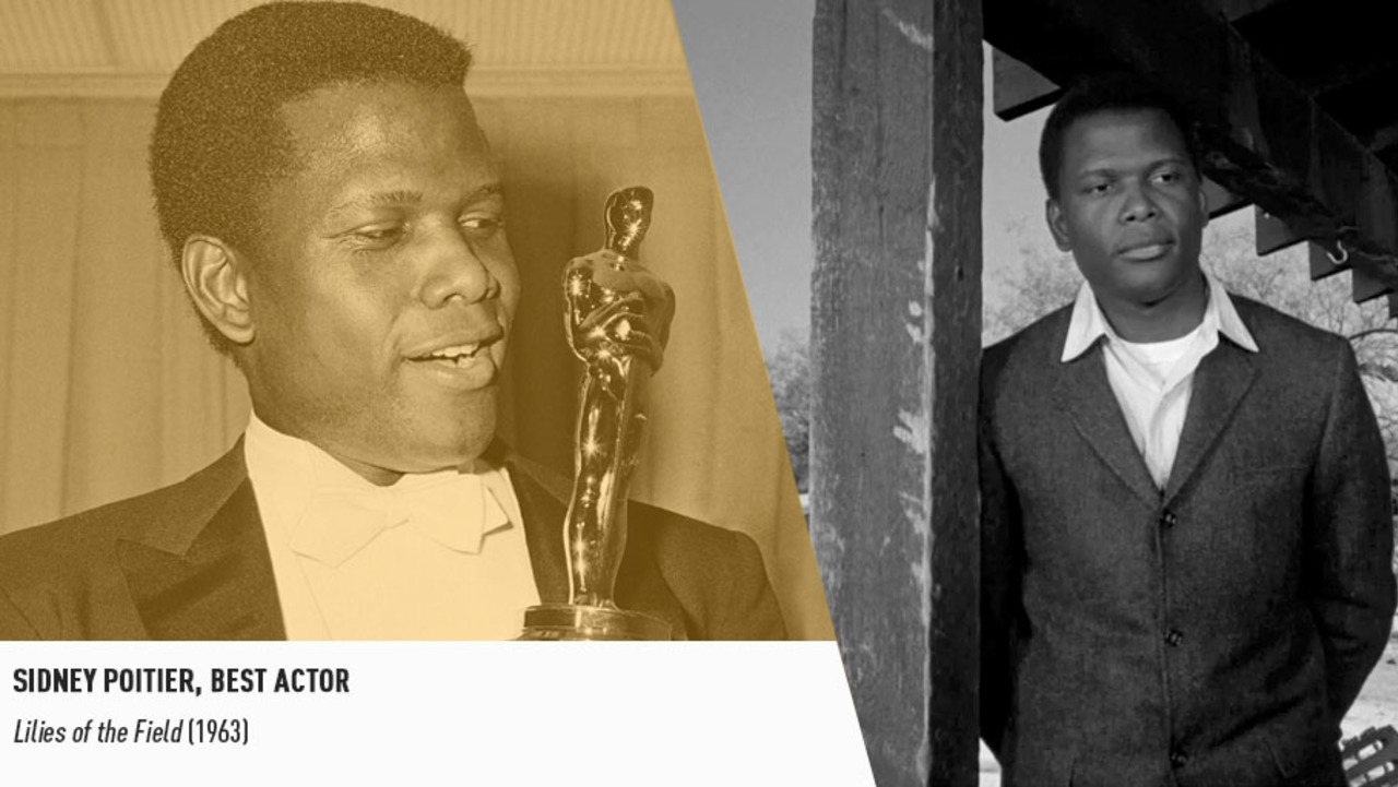 Legendary industry trailblazer Sidney Poitier became the first black man to win an Oscar in 1964.