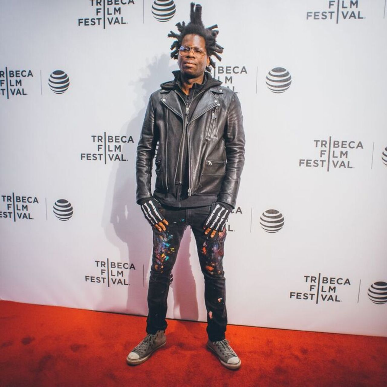 Bradley Theodore walks the red carpet during the Festival Hub's opening night before the premiere of BECOMING BRADLEY THEODORE.
