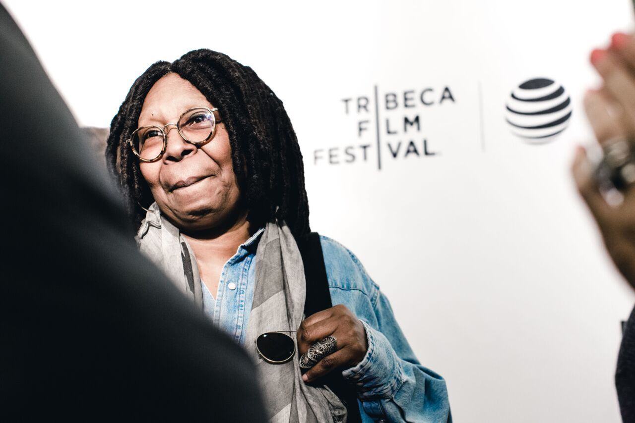 Whoopi Goldberg on the carpet at the premiere of WHOOPI'S SHORTS on Sunday, April 17th, at the Festival Hub.