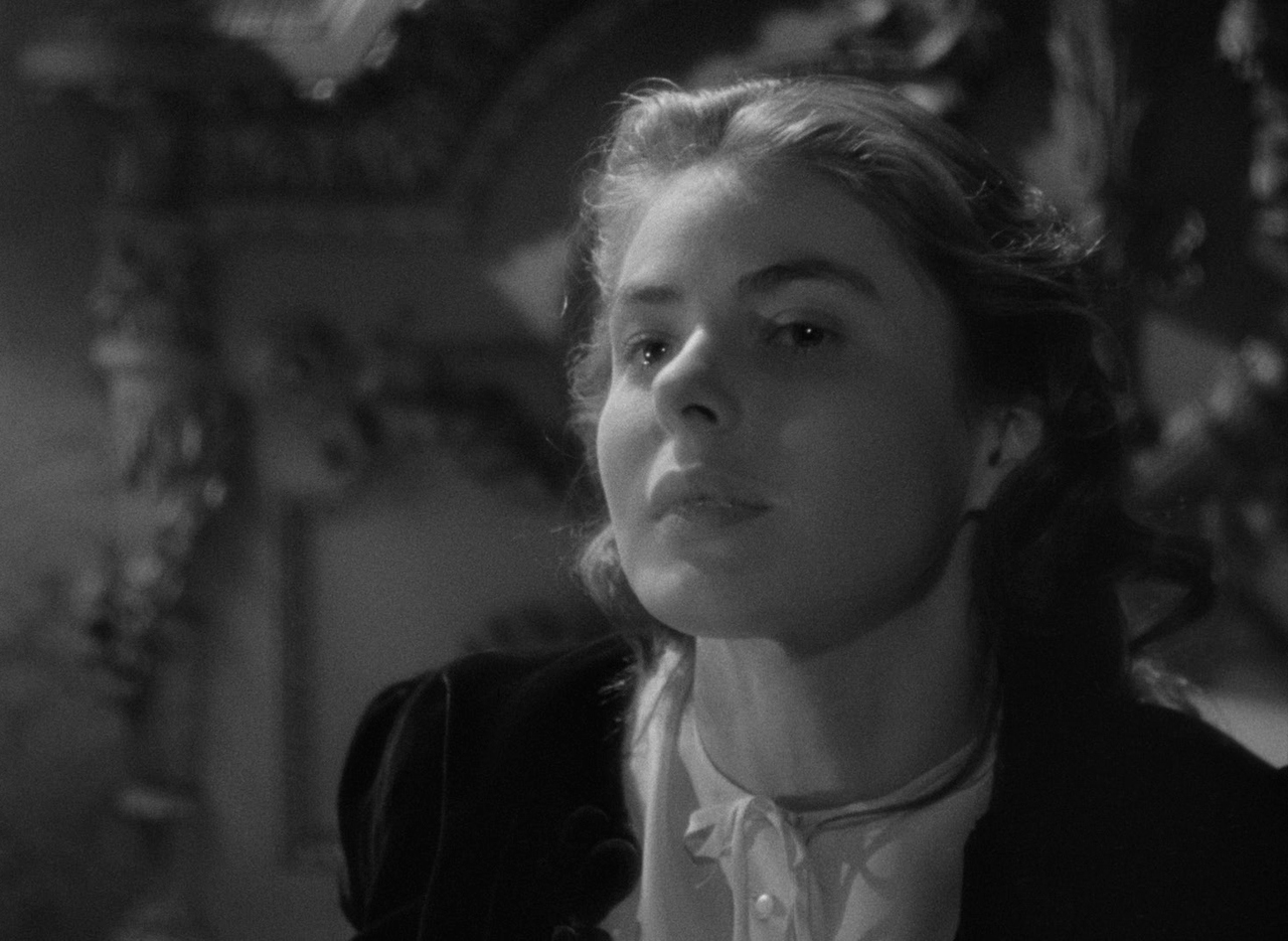 Ingrid Bergman, <i>Spellbound</i> (1945), <i>Notorious</i> (1946), and <i>Under Capricorn</i> (1949): In <i>Notorious</i>, Bergman, vividly carnal as a self-punishing spy whose love for the man who recruited her threatens to bring about her doom, gives what is arguably the greatest female performance in Hitchcock's filmography. Led by her principles but undone by her heart, Bergman's Alicia Huberman is one of the most complex female characters the screen has ever produced. The actress' chemistry with Cary Grant is so potent that it is practically aromatic, and her foregrounding of Alicia's twisted desire to be not merely saved but possessed remains startling, no matter the era in which we witness it. A single expression of Bergman's can contain unknown multitudes; her face <i>is</i> the movie and the reason why we return to this movie, time and time again.