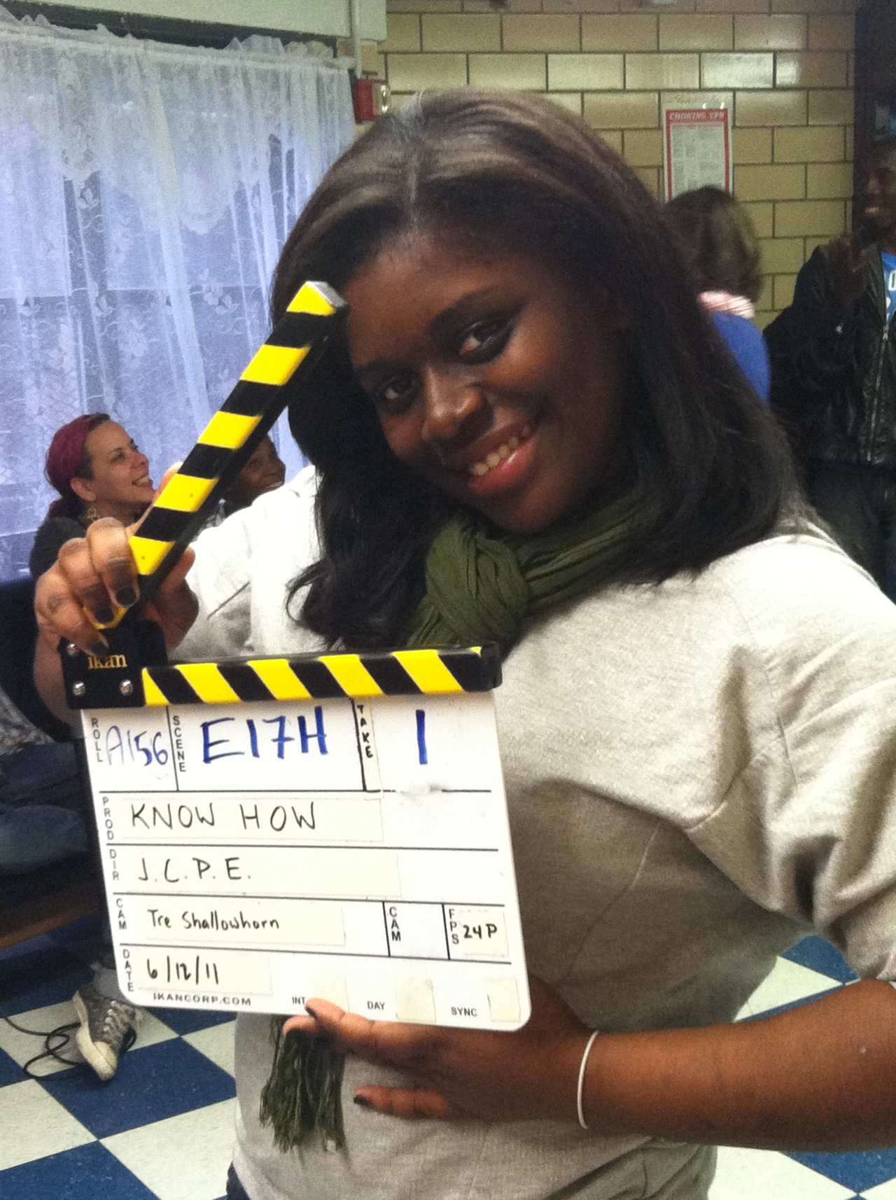 Niquana Clark on the set of KNOW HOW.