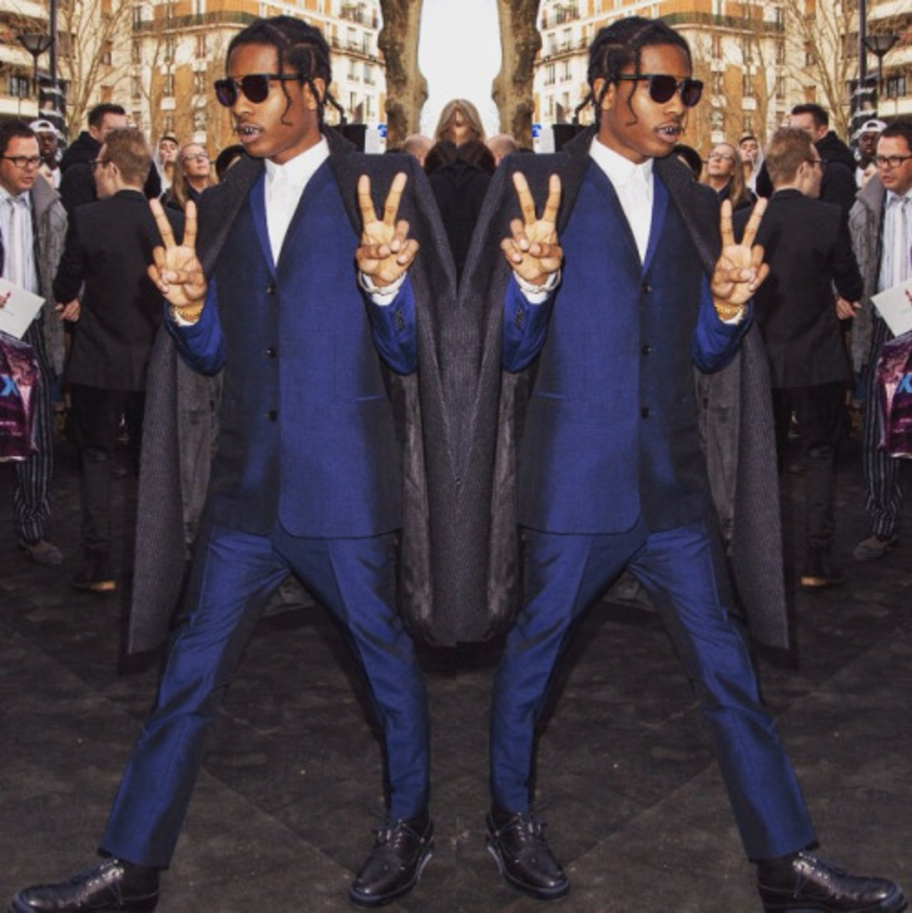 One of #SachaJenkins' interview subjects in #FreshDressed, you'll hear @asvpxrocky explain his relationship with luxury fashion. Pictured here wearing @Dior Homme.