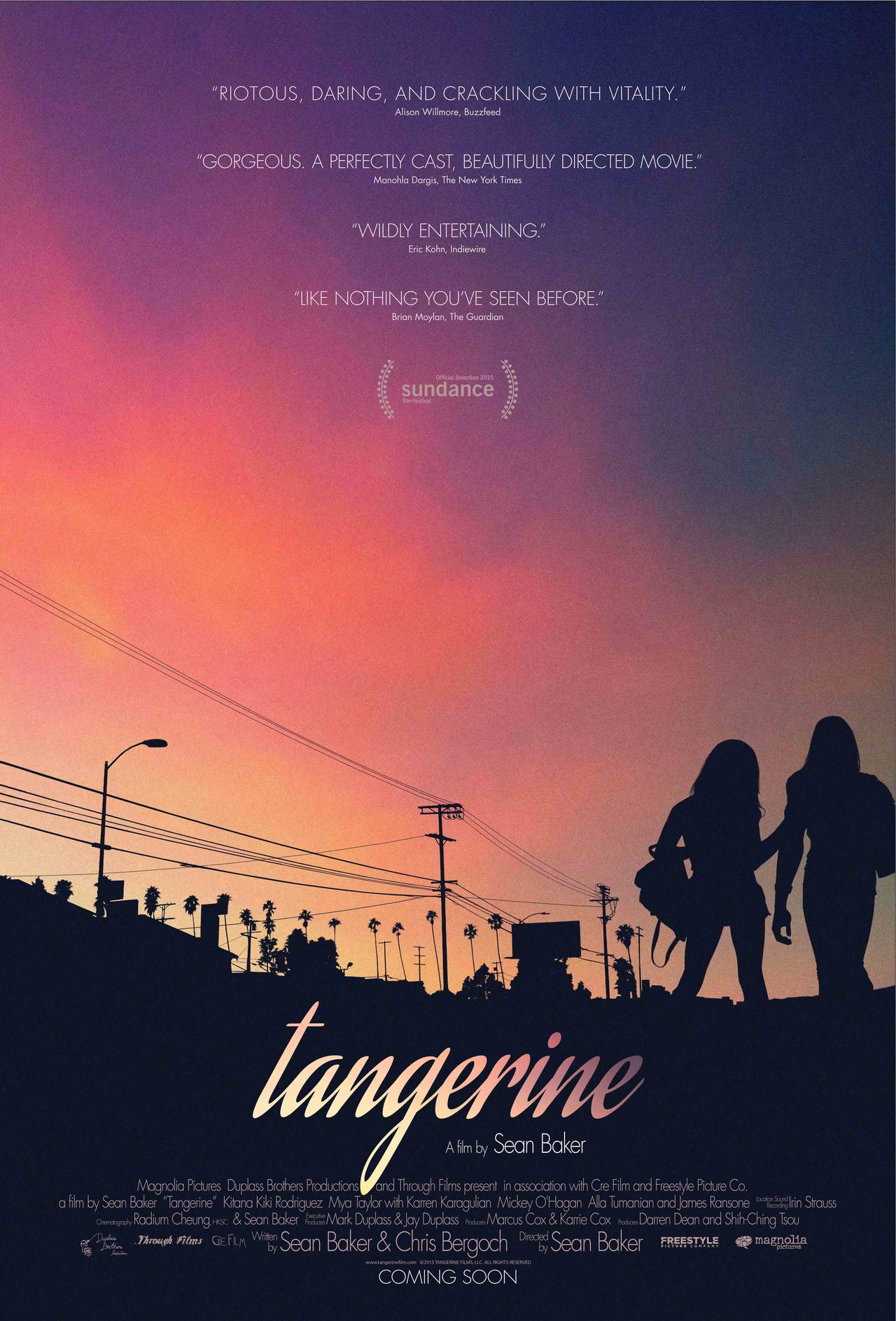 The official poster for TANGERINE (2015)